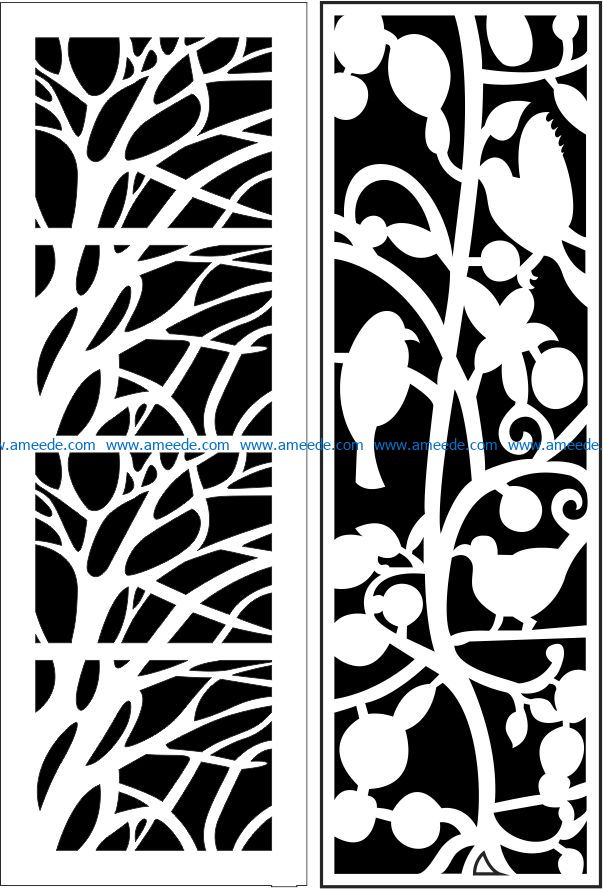 Design pattern panel screen E0009294 file cdr and dxf free vector download for Laser cut CNC