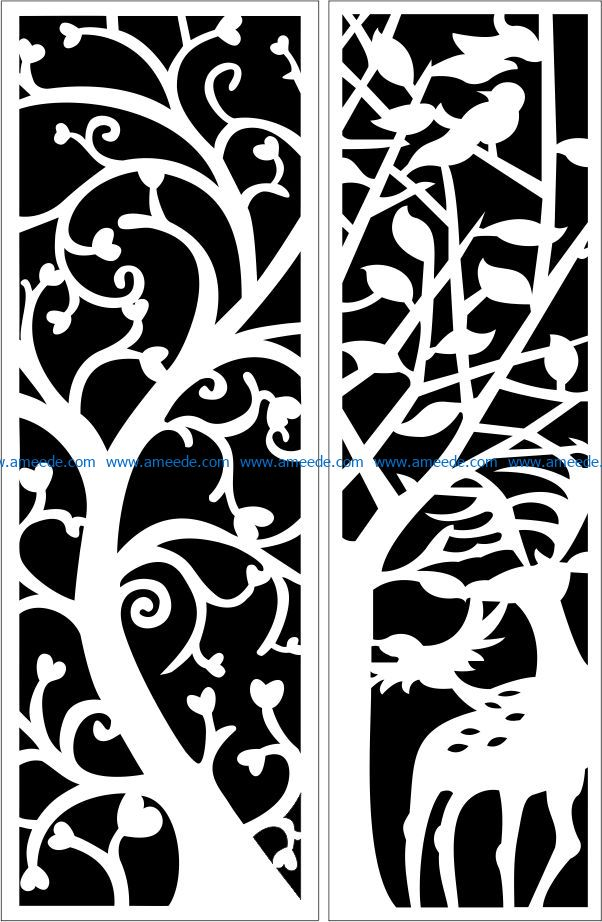 Design pattern panel screen E0009295 file cdr and dxf free vector download for Laser cut CNC