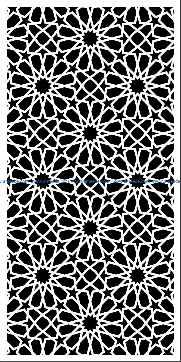 Design pattern panel screen E0009296 file cdr and dxf free vector download for Laser cut CNC