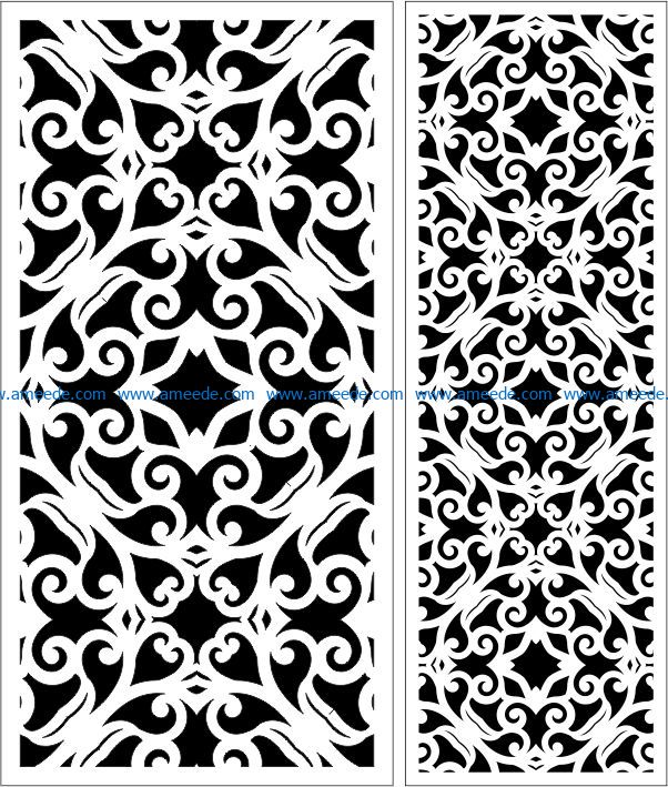 Design pattern panel screen E0009297 file cdr and dxf free vector download for Laser cut CNC