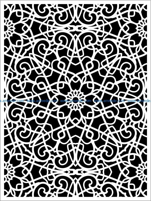 Design pattern panel screen E0009299 file cdr and dxf free vector download for Laser cut CNC