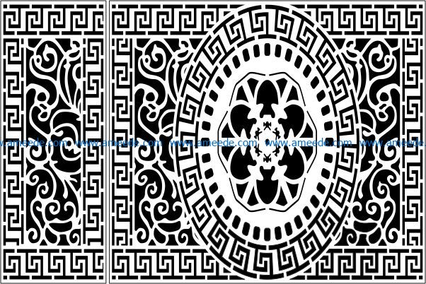 Design pattern panel screen E0009338 file cdr and dxf free vector download for Laser cut CNC Design pattern panel screen E0009338 file cdr and dxf free vector download for Laser cut CNC