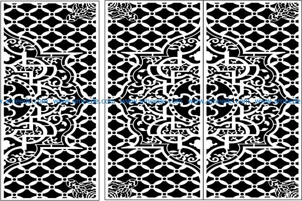Design pattern panel screen E0009339 file cdr and dxf free vector download for Laser cut CNC