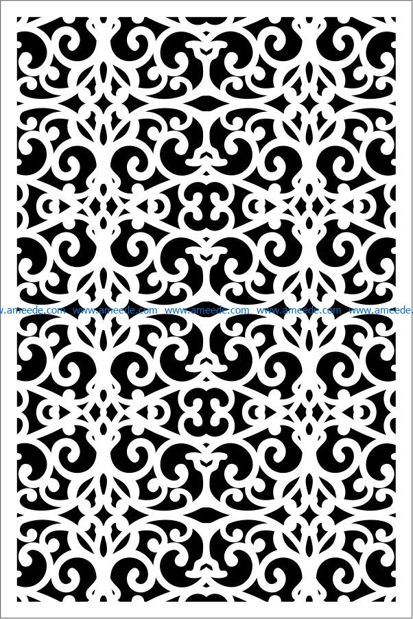 Design pattern panel screen E0009340 file cdr and dxf free vector download for Laser cut CNC