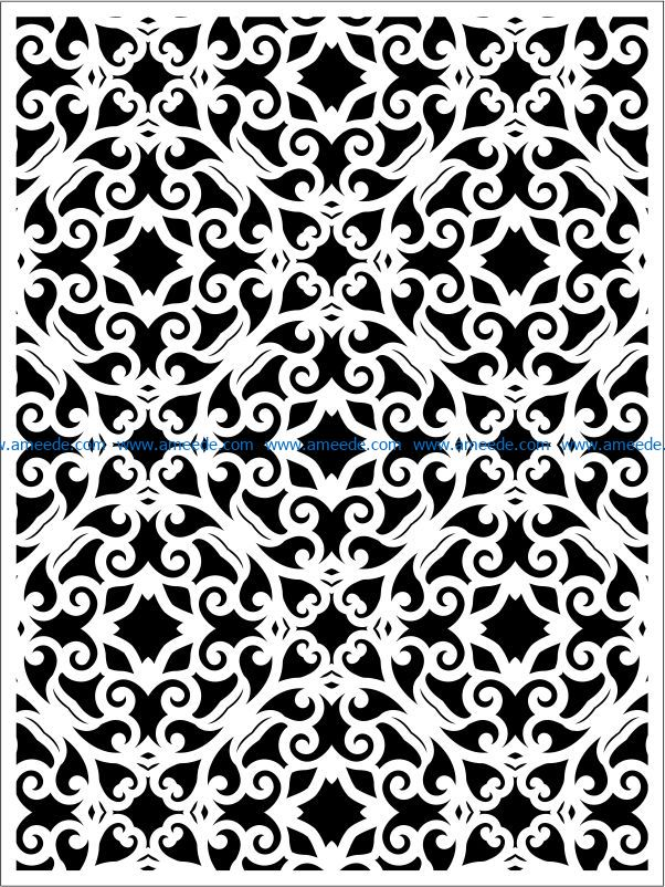 Design pattern panel screen E0009341 file cdr and dxf free vector download for Laser cut CNC
