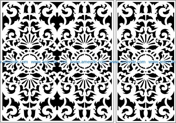 Design pattern panel screen E0009464 file cdr and dxf free vector download for Laser cut CNC