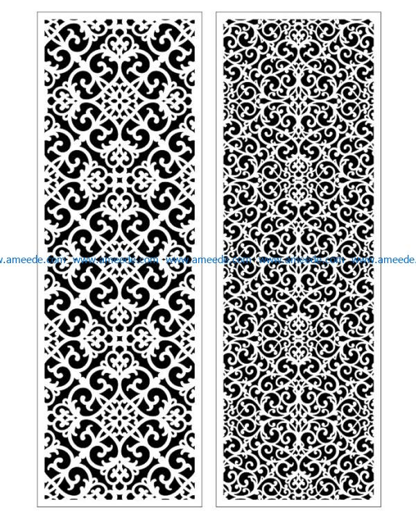 Design pattern panel screen E0009383 file cdr and dxf free vector download for Laser cut CNC