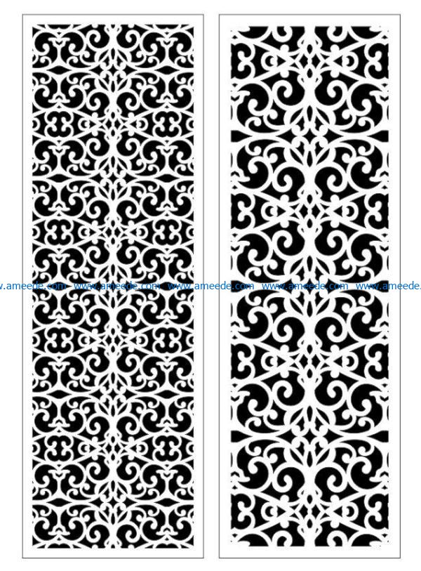 Design pattern panel screen E0009384 file cdr and dxf free vector download for Laser cut CNC