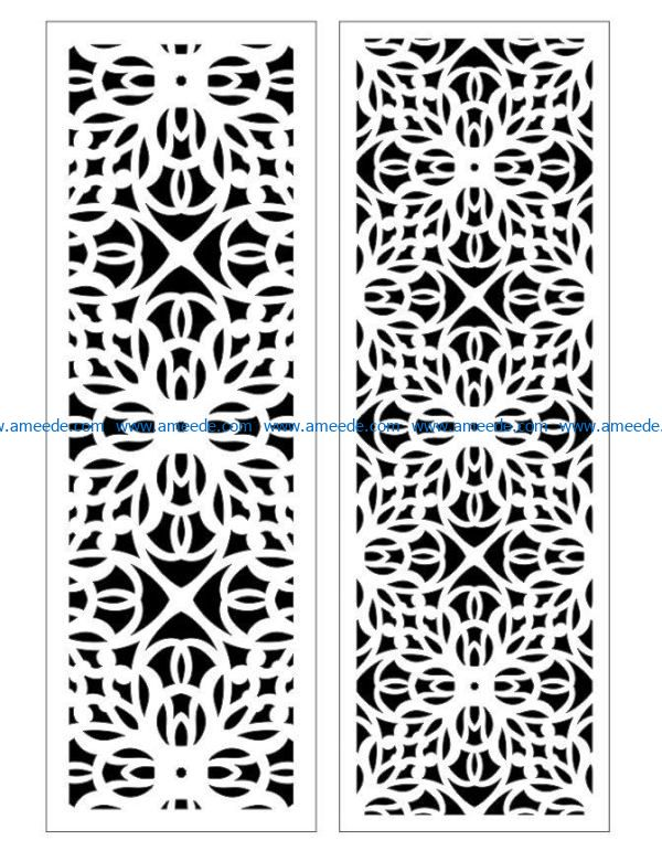 Design pattern panel screen E0009386 file cdr and dxf free vector download for Laser cut CNC