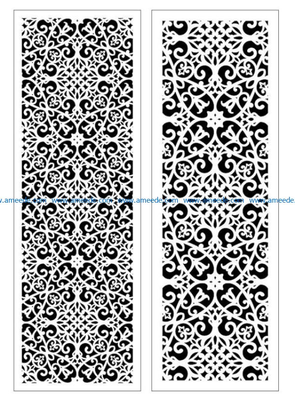 Design pattern panel screen E0009387 file cdr and dxf free vector download for Laser cut CNC