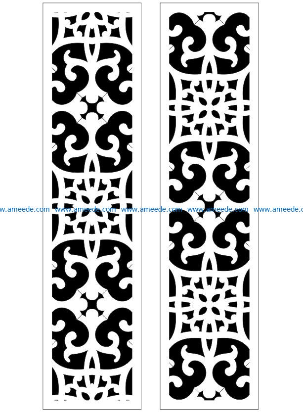 Design pattern panel screen E0009388 file cdr and dxf free vector download for Laser cut CNC