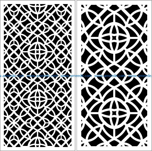 Design pattern panel screen E0009430 file cdr and dxf free vector download for Laser cut CNC