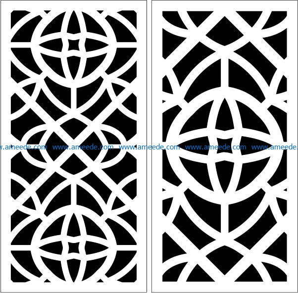Design pattern panel screen E0009431 file cdr and dxf free vector download for Laser cut CNC