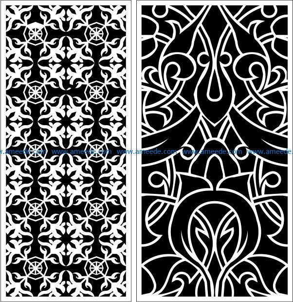 Design pattern panel screen E0009432 file cdr and dxf free vector download for Laser cut CNC