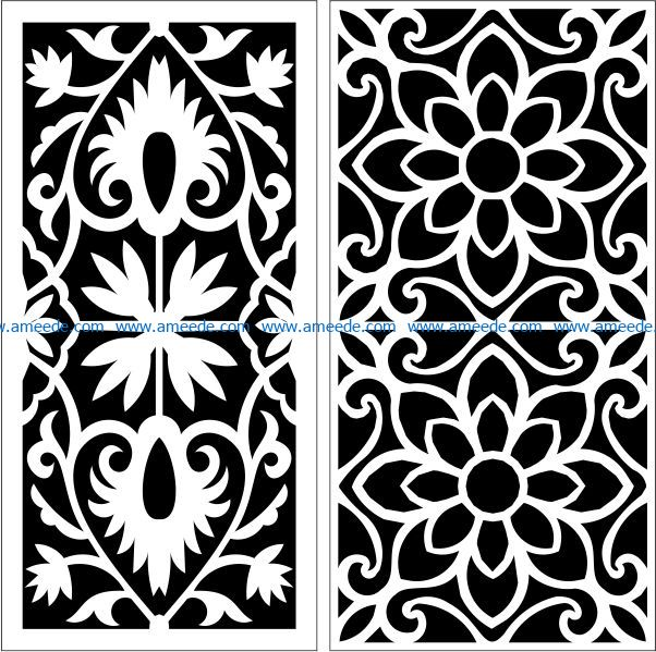Design pattern panel screen E0009433 file cdr and dxf free vector download for Laser cut CNC