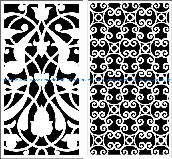 Design pattern panel screen E0009434 file cdr and dxf free vector download for Laser cut CNC