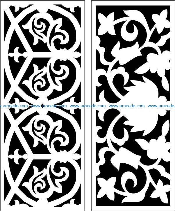 Design pattern panel screen E0009435 file cdr and dxf free vector download for Laser cut CNC