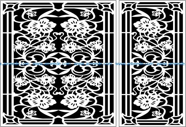 Design pattern panel screen E0009466 file cdr and dxf free vector download for Laser cut CNC