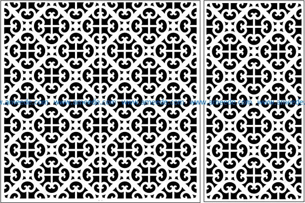 Design pattern panel screen E0009468 file cdr and dxf free vector download for Laser cut CNC