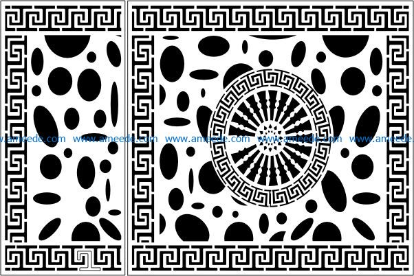 Design pattern panel screen E0009469 file cdr and dxf free vector download for Laser cut CNC
