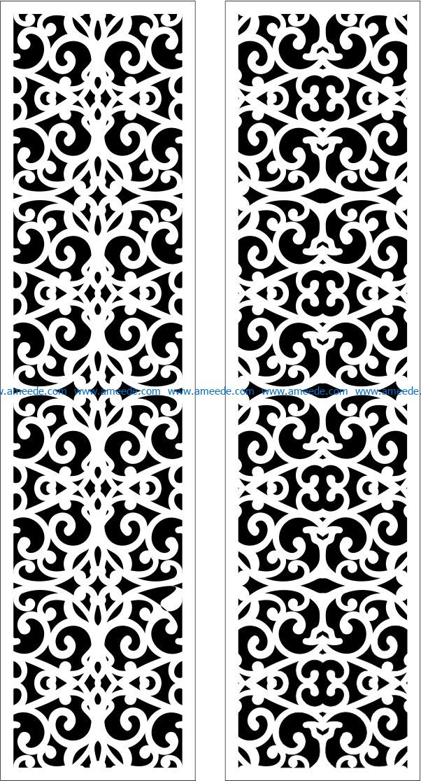 Design pattern panel screen E000950 file cdr and dxf free vector download for Laser cut CNC