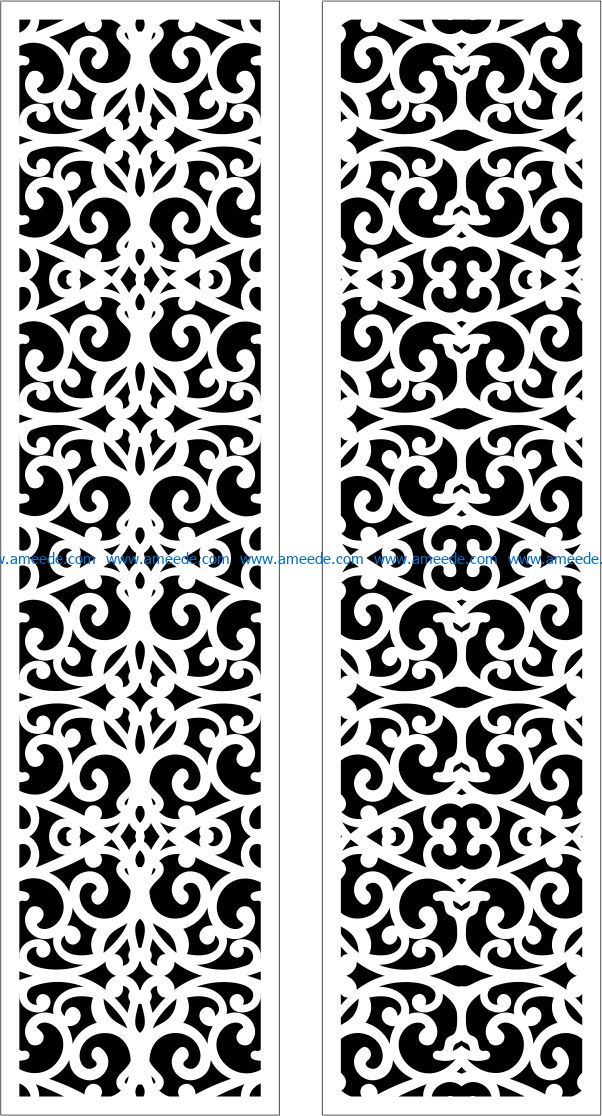 Design pattern panel screen E0009502 file cdr and dxf free vector download for Laser cut CNC