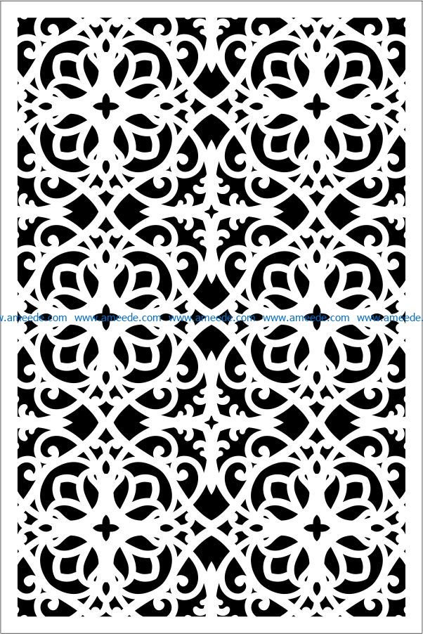 Design pattern panel screen E0009504 file cdr and dxf free vector download for Laser cut CNC