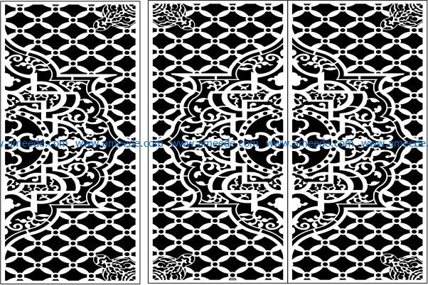 Design pattern panel screen E0009541 file cdr and dxf free vector download for Laser cut CNC
