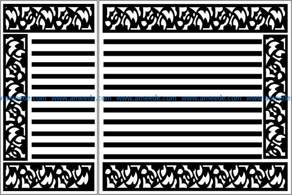 Design pattern panel screen E0009542 file cdr and dxf free vector download for Laser cut CNC