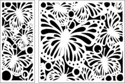 Design pattern panel screen E0009543 file cdr and dxf free vector download for Laser cut CNC