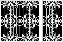 Design pattern panel screen E0009544 file cdr and dxf free vector download for Laser cut CNC