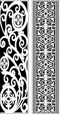 Design pattern panel screen E0009545 file cdr and dxf free vector download for Laser cut CNC