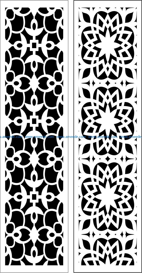 Design pattern panel screen E0009546 file cdr and dxf free vector download for Laser cut CNC
