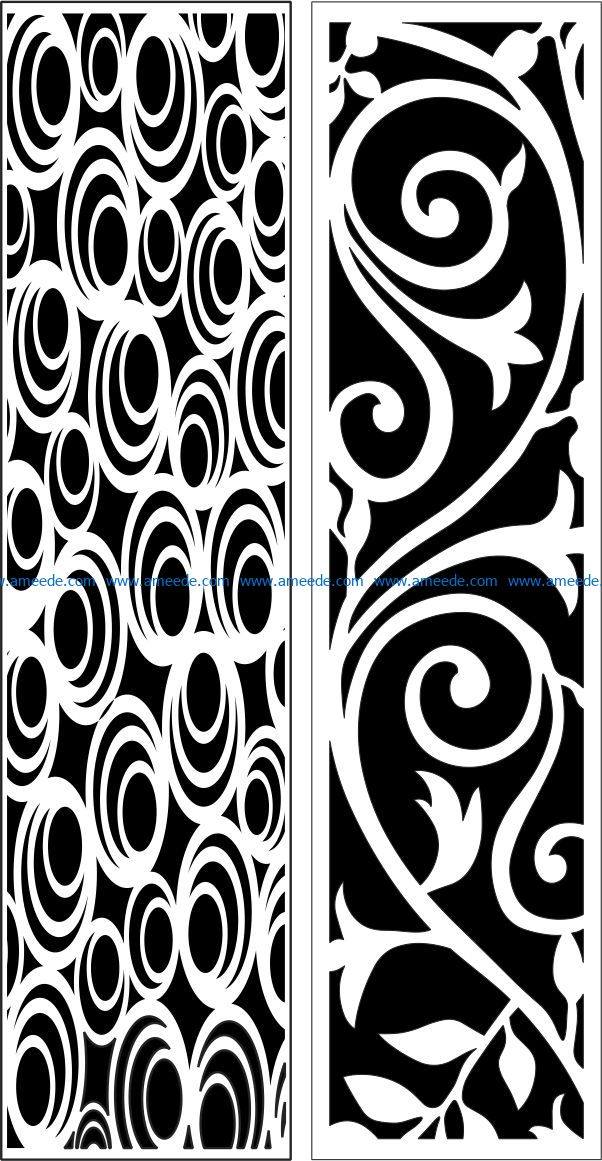 Design pattern panel screen E0009547 file cdr and dxf free vector download for Laser cut CNC
