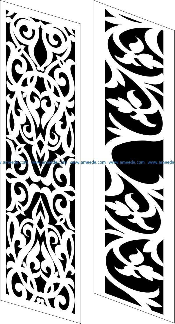 Design pattern panel screen E0009548 file cdr and dxf free vector download for Laser cut CNC