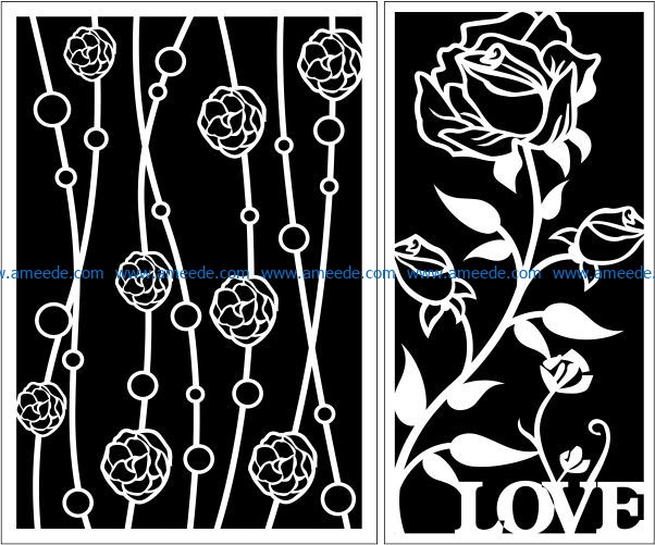 Design pattern panel screen E0009587 file cdr and dxf free vector download for Laser cut CNC
