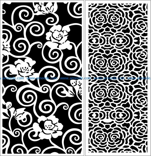 Design pattern panel screen E0009589 file cdr and dxf free vector download for Laser cut CNC