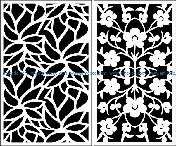 Design pattern panel screen E0009590 file cdr and dxf free vector download for Laser cut CNC