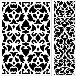 Design pattern panel screen E0009592 file cdr and dxf free vector download for Laser cut CNC