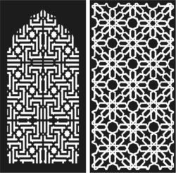 Design pattern panel screen E0009659 file cdr and dxf free vector download for Laser cut CNC