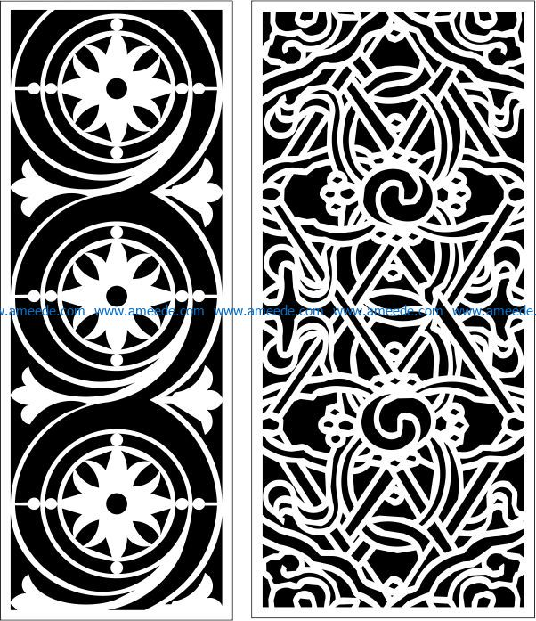 Design pattern panel screen E0009661 file cdr and dxf free vector download for Laser cut CNC