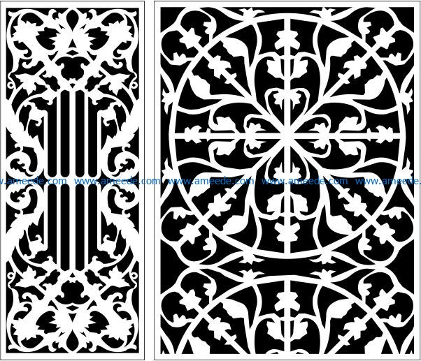 Design pattern panel screen E0009662 file cdr and dxf free vector download for Laser cut CNC