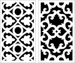 Design pattern panel screen E0009663 file cdr and dxf free vector download for Laser cut CNC
