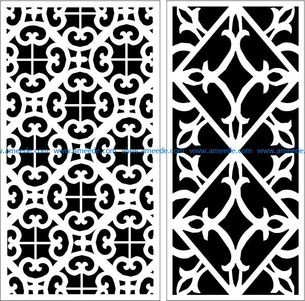 Design pattern panel screen E0009664 file cdr and dxf free vector download for Laser cut CNC