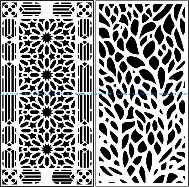 Design pattern panel screen E0009693 file cdr and dxf free vector download for Laser cut CNC