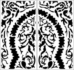Design pattern panel screen E0009694 file cdr and dxf free vector download for Laser cut CNC