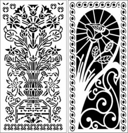 Design pattern panel screen E0009695 file cdr and dxf free vector download for Laser cut CNC