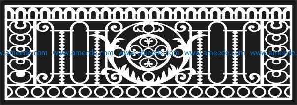 Design pattern railing E0009607 file cdr and dxf free vector download for Laser cut CNC