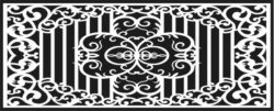Design pattern railing E0009608 file cdr and dxf free vector download for Laser cut CNC