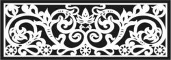 Design pattern railing E0009610 file cdr and dxf free vector download for Laser cut CNC Pattern railing